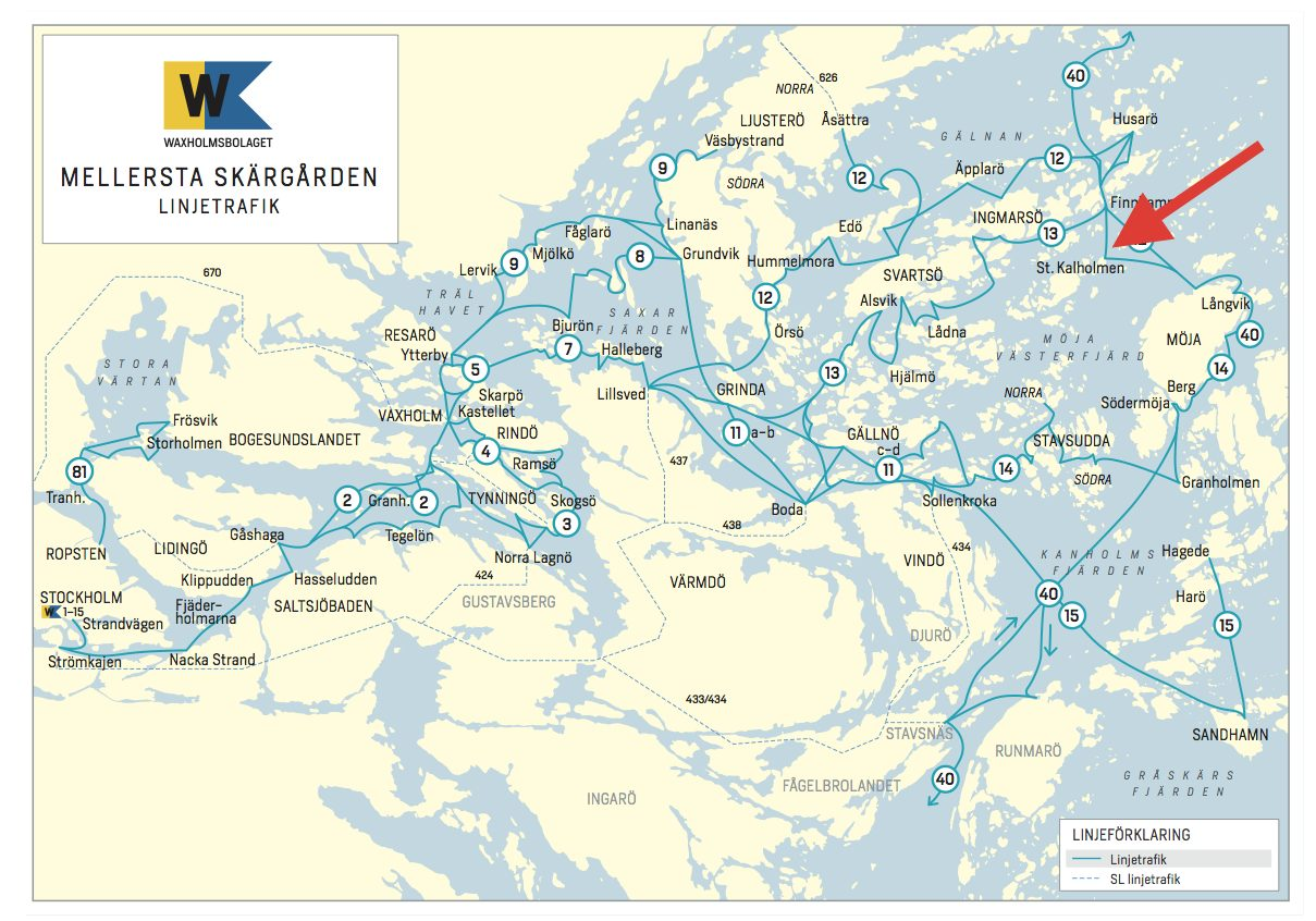 waxholmsbolaget karta Stora Kalholmen waxholmsbolaget karta